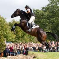 Jessie and Exponetial at the Burghley Cottesmore Leap